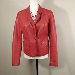 River Island Red Faux Leather Jacket